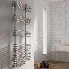 Reina Mirus Designer Heated Towel Rail 900mm H x 500mm W Chrome