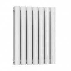 Reina Neva Double Designer Horizontal Radiator 550mm H x 413mm W White