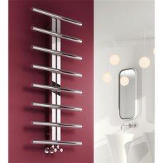 Reina Pizzo Designer Heated Towel Rail 1000mm H x 600mm W Polished Stainless Steel
