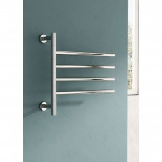 Reina Rance Electric Designer Heated Towel Rail 455mm H x 500mm W Polished