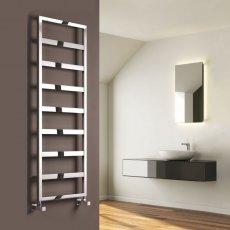 Reina Rezzo Designer Heated Towel Rail 740mm H x 550mm W Chrome