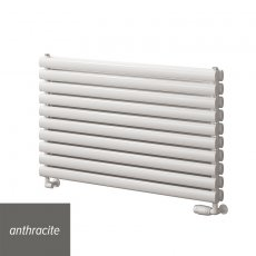 Reina Roda Double Designer Horizontal Radiator 590mm H x 600mm W Anthracite