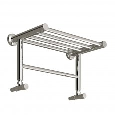 Reina Troisi Designer Heated Towel Rail 294mm H x 532mm W Polished Stainless Steel