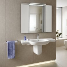 Roca Meridian-N Wall Hung Basin, 1000mm Wide, 1 Tap Hole