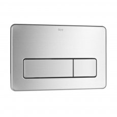 Roca PL3 Dual Flush Operating Plate for Concealed Cistern - Stainless Steel