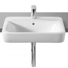 Roca Senso Square Semi-Recessed Basin, 560mm Wide, 1 Tap Hole