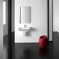 Roca The Gap Wall Hung Basin with Semi Pedestal 450mm W - 0 Tap Hole