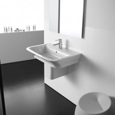 Roca The Gap Basin and Semi Pedestal, 450mm Wide, 1 Tap Hole