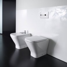 Roca The Gap Back to Wall Toilet WC 610mm Projection - Soft Close Seat