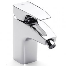 Roca Thesis Bidet Mixer Tap with Retractable Chain - Chrome