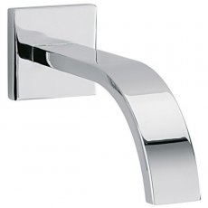 Sagittarius Arke Wall Mounted Bath Spout and Square Cover Plate 160mm