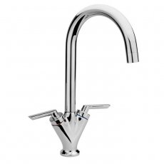 Sagittarius Contract Mono Kitchen Sink Mixer Tap, Swivel Spout, Dual Handle, Chrome