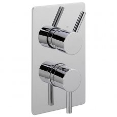 Sagittarius Ergo Concealed Shower Valve Dual Handle - Chrome