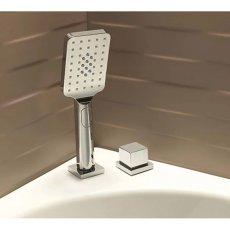 Sagittarius Kubic 2-Way Diverter and Shower Handset Bath Mounted - Chrome