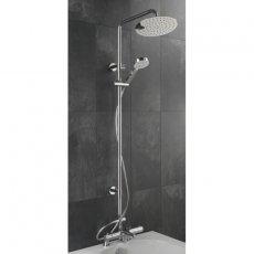 Sagittarius Logic Deck Mounted Bath Shower Mixer and Adjustable Rigid Riser Kit