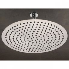 Sagittarius Morella Slim Fixed Shower Head and Ceiling Arm, 400mm Diameter, Chrome