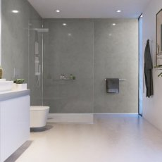 Showerwall Proclick MDF Shower Panel 600mm Wide x 2440mm High - Pearl Grey