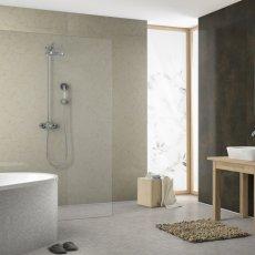 Showerwall Proclick MDF Shower Panel 600mm Wide x 2440mm High - Pergamon Marble