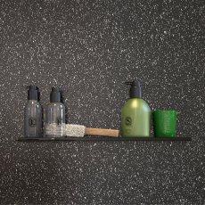 Showerwall Proclick MDF Shower Panel 600mm Wide x 2440mm High - Black Galaxy