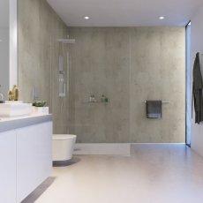 Showerwall Proclick MDF Shower Panel 600mm Wide x 2440mm High - Urban Concrete