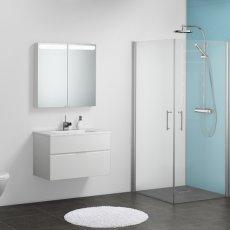 Showerwall Proclick MDF Shower Panel 600mm Wide x 2440mm High - White Gloss