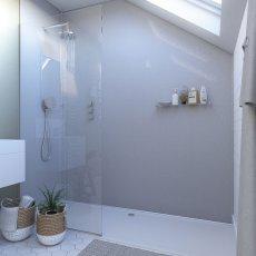 Showerwall Proclick MDF Shower Panel 600mm Wide x 2440mm High - White Sparkle