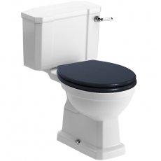 Signature Aphrodite Close Coupled Toilet with Cistern - Indigo Ash Soft Close Seat