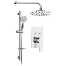 Signature Aura Single Concealed Mixer Shower with Shower Kit and Fixed Head - Chrome