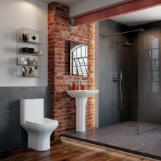 Signature Aztec Bathroom Suite Close Coupled Toilet and Basin 560mm - 1 Tap Hole