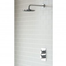 Signature Circa Round Dual Concealed Mixer Shower with Fixed Head - Chrome