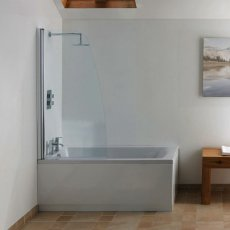 Signature Contract Sail Bath Screen 1402mm H x 830-845mm W - 6mm Glass
