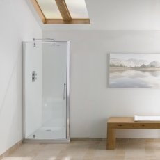 Signature Contract Pivot Shower Door 1830mm H x 700mm W - 6mm Glass