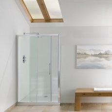 Signature Contract Sliding Shower Door 1830mm H x 1000mm W - 6mm Glass