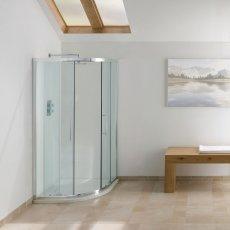 Signature Contract Quadrant Shower Enclosure 1830mm H x 1000mm W - 6mm Glass