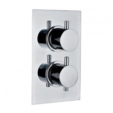 Signature Emotion Round Thermostatic Concealed Shower Valve Single Outlet - Chrome