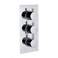 Signature Emotion Round Thermostatic Concealed Shower Valve Triple Outlet - Chrome