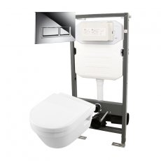 Signature Opaz 2 Wall Hung Toilet with Soft Close Seat and 1140mm WC Frame + Trend Flush Plate