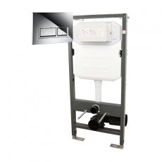 Signature Essentials WC Frame 1140mm with Dual Flush Cistern and Trend Flush Plate