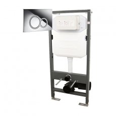 Signature Essentials WC Frame 1140mm with Dual Flush Cistern and ISO Flush Plate