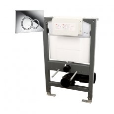 Signature Essentials WC Frame 820mm with Dual Flush Cistern and ISO Flush Plate