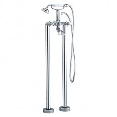 Signature Eterno2 Freestanding Bath Shower Mixer Tap with Shower Kit - Chrome