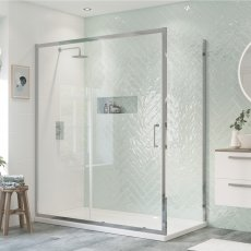 Signature Inca6 Sliding Shower Door 1500mm Wide - 8mm Glass