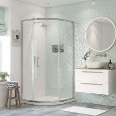 Signature Inca6 Single Door Quadrant Shower Enclosure 900mm x 900mm - 8mm Glass