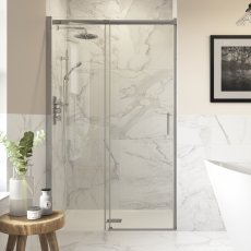 Signature Inca8 Sliding Shower Door 1200mm Wide - 8mm Glass