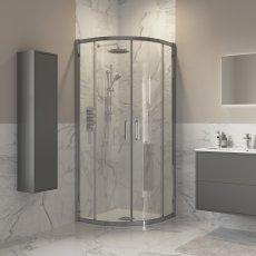 Signature Inca8 Double Door Quadrant Shower Enclosure 900mm x 900mm - 8mm Glass