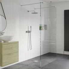 Signature Inca8 Walk-In Shower Panel 1000mm Wide - 8mm Glass