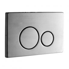 Signature Easi-Plan ISO 2S Dual Flush Plate - Brushed Stainless Steel