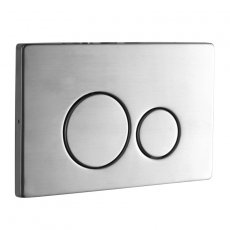 Signature Easi-Plan ISO 2S Dual Flush Plate - Polished Stainless Steel