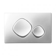 Signature Easi-Plan Mode Dual Flush Plate - Satin