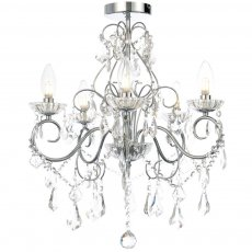 Signature 5 Light Chandelier - Silver